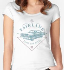 Ford Fairlane 1967 - Built for Speed Tailliertes Rundhals-Shirt