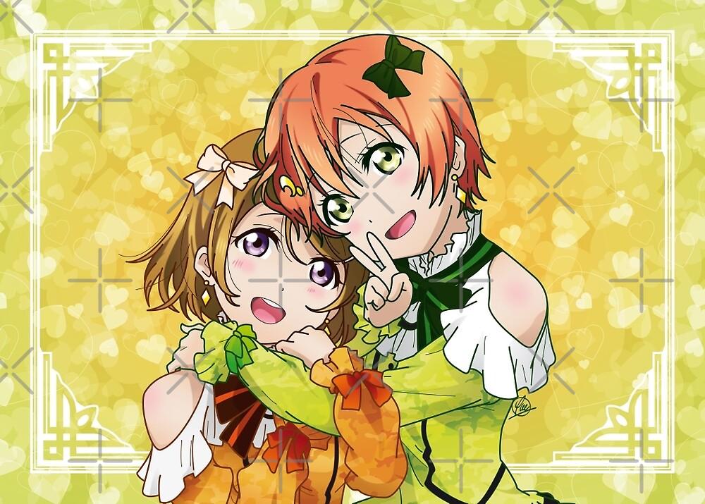 Rin & Hanayo (KiRa-KiRa Sensation camo edit) by alphavirginis
