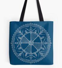 Navy und White Sun (Saulite) Design Tasche