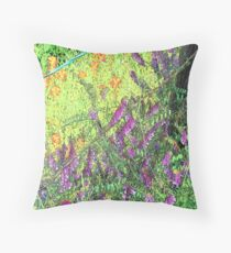 Vetch and Paintbrushes Throw Pillow