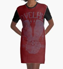 Shovelhead Motorcycle Engine T-Shirt Kleid