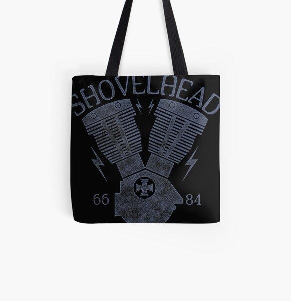 Shovelhead Motorcycle Engine All Over Print Tote Bag