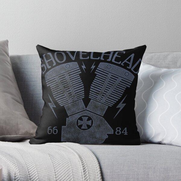 Shovelhead Motorcycle Engine Throw Pillow