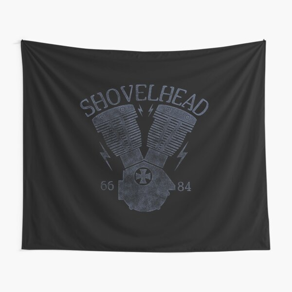 Shovelhead Motorcycle Engine Tapestry