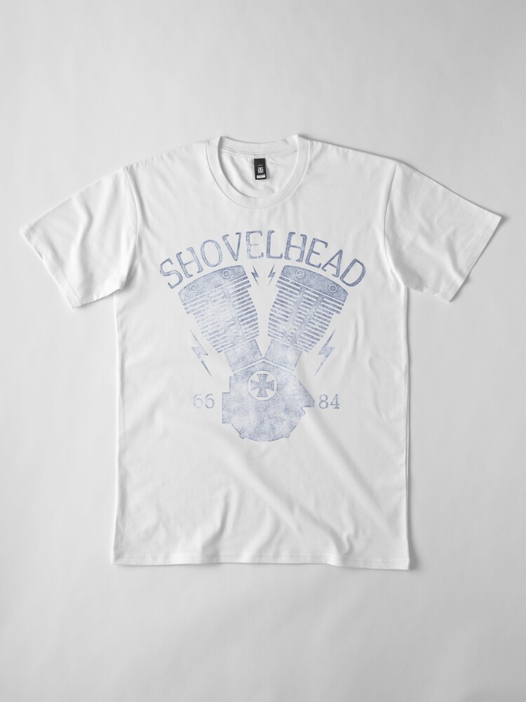 Alternative Ansicht von Shovelhead Motorcycle Engine Premium T-Shirt