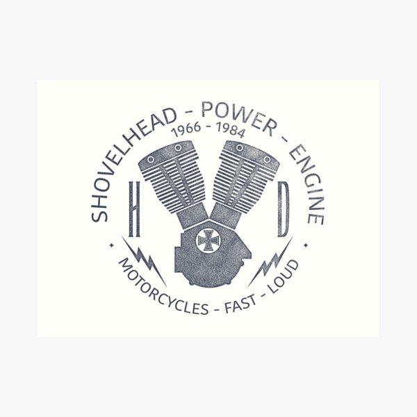 Harley Davidson Shovelhead Power 1966 - 1984 Kunstdruck