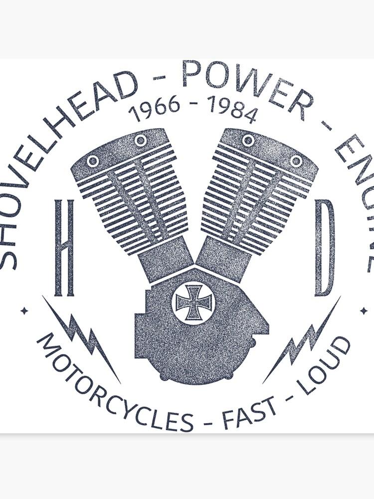 Harley Davidson Shovelhead Power 1966 - 1984 | Canvas Print