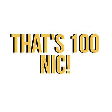 Eso es 100 Nic! de amariei