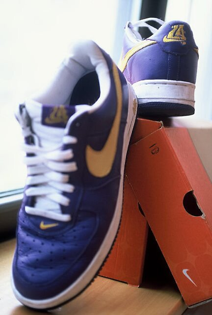 Air Force 1 lo - Lakers Purple by Gerald Watson
