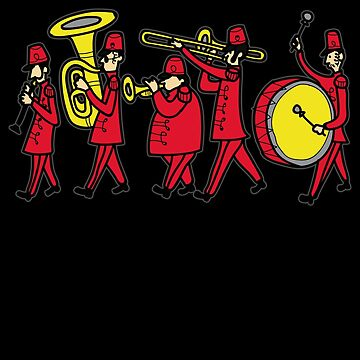MARCHING BAND Orchestra Music Musician Comic Gift by Moonpie90