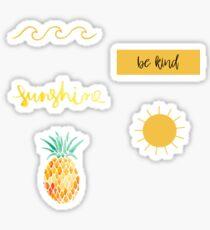 Gelbes Sticker Pack 3 Sticker