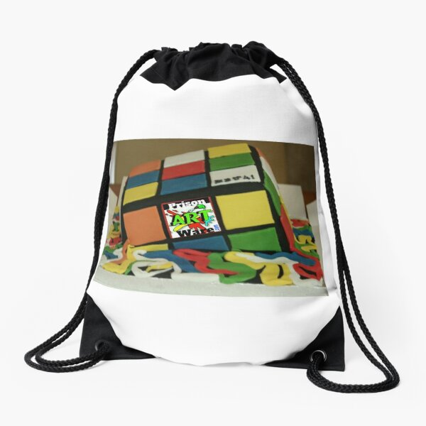 PrisonArtWare.com melting the lines between  prison art and...not Drawstring Bag