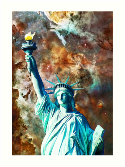 Statue Of Liberty - She Stands by Sharon Cummings by Sharon Cummings