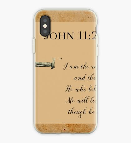 Resurrection and Life iPhone Case