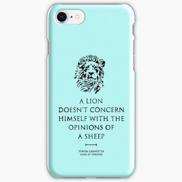 A lion doesn't concern himself with the opinions of a sheep iPhone Snap Case
