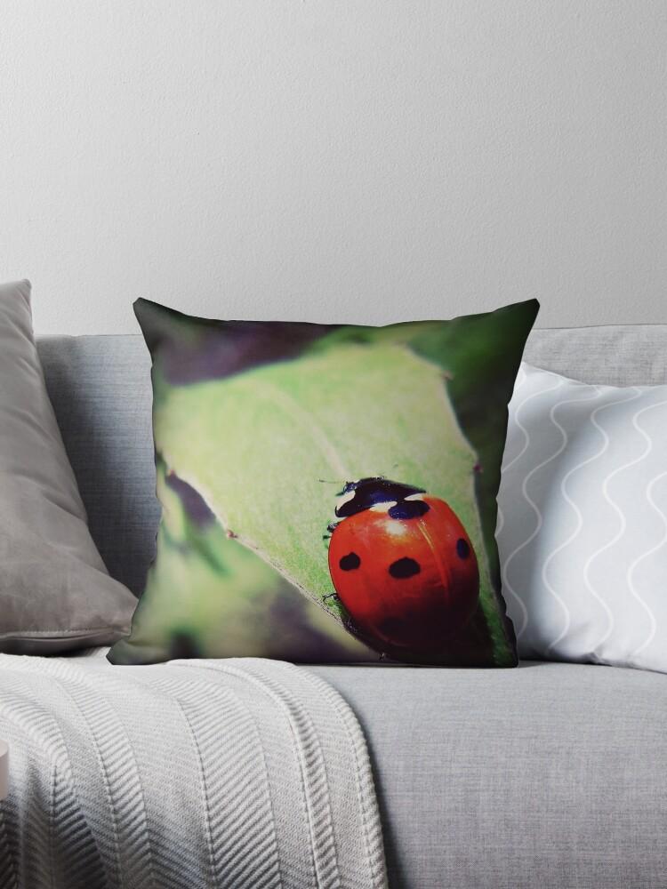 ladybug -  vintage - leaf by FandomizedRose