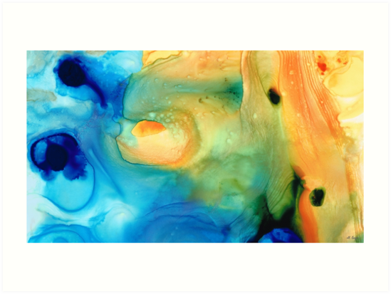 Warm Tides - Abstract Art By Sharon Cummings by Sharon Cummings