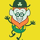 St Patrick's Day Leprechaun wearing funky clover glasses by Zoo-co