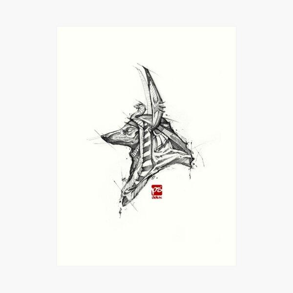 Anubis sketch psdelux Art Print