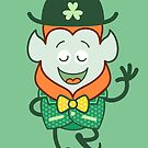 St Patrick's Day Leprechaun wearing elegant clover costume by Zoo-co