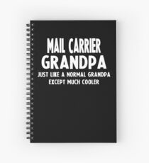 Gifts For Mail Carrier's Grandpa Spiral Notebook