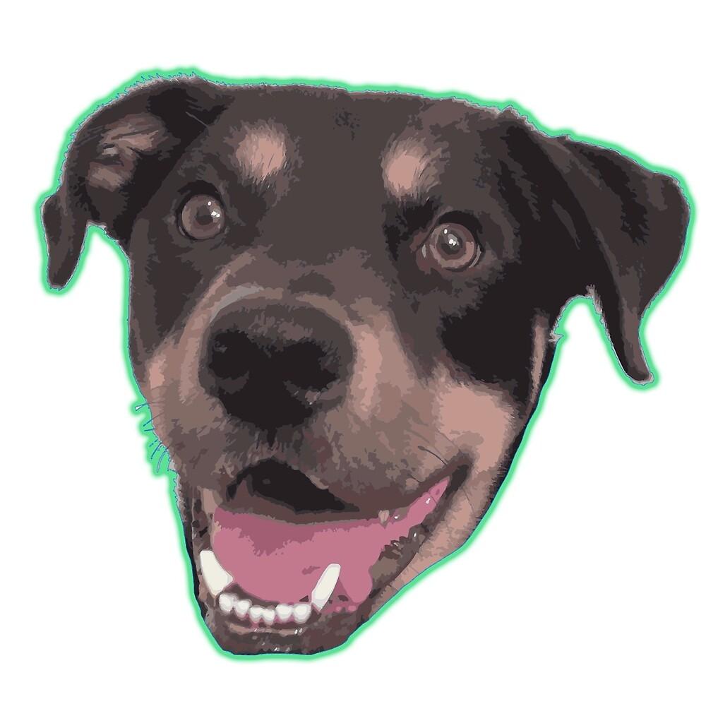 Happy dog head by stephaopi