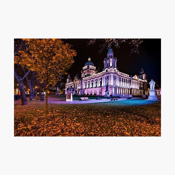 Belfast City Hall In Autumn Northern Ireland  Photographic Print