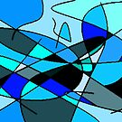 Abstract Blue 8 by AngelinaLucia10