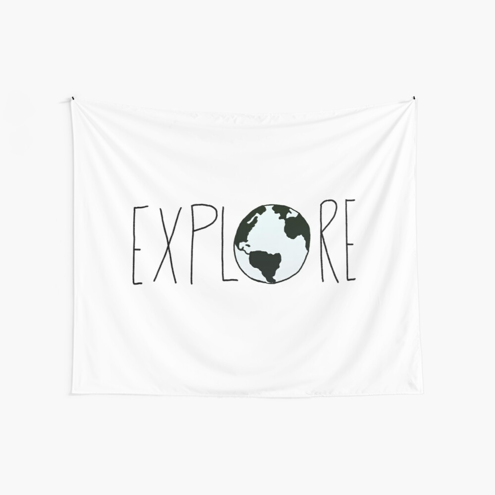 Explore the Globe Wall Tapestry