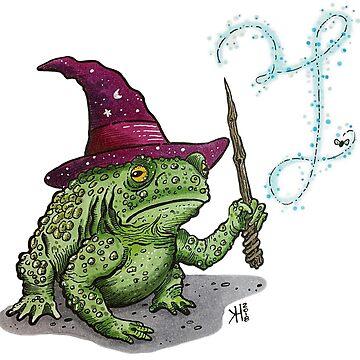 The Frog Wizard by Wildharegrafix