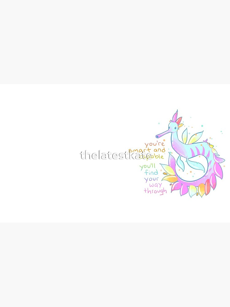 """Eres inteligente y capaz"" Pastel Rainbow Sea Dragon de thelatestkate"