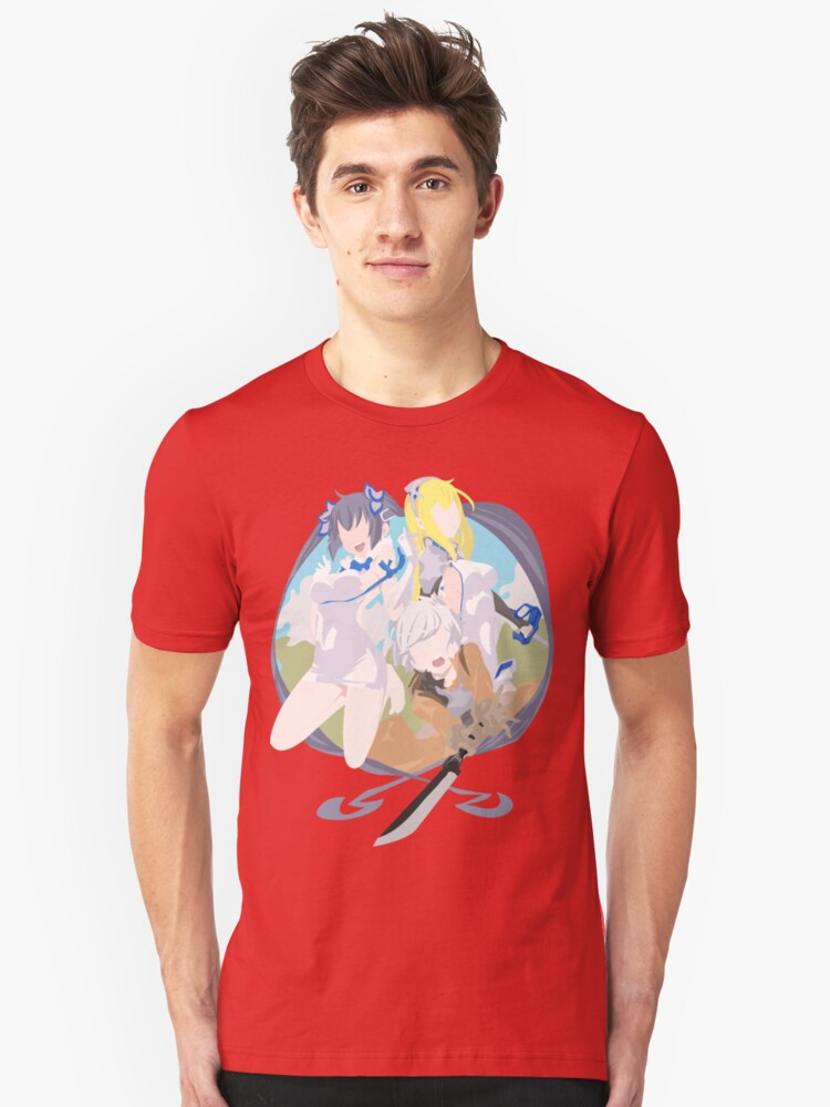Is it wrong to try and pickup girls in a dungeon? Unisex T-Shirt Front
