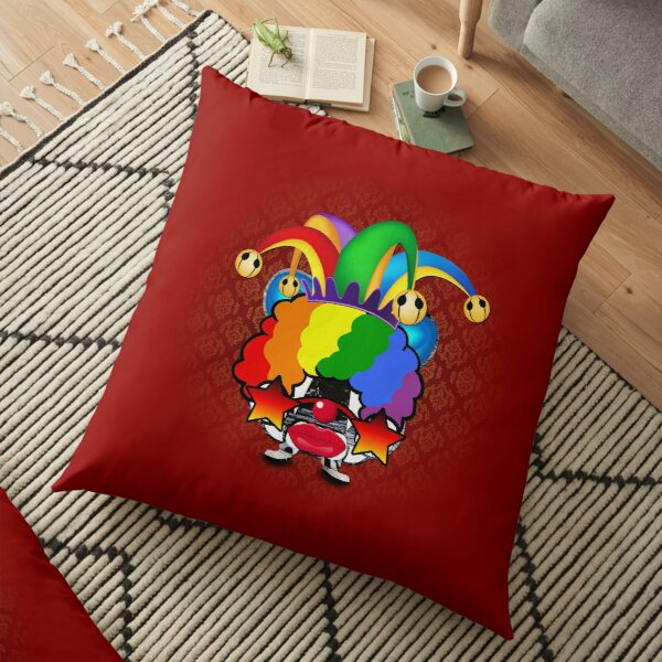 Willy -The Little Circus Clown Floor Pillow