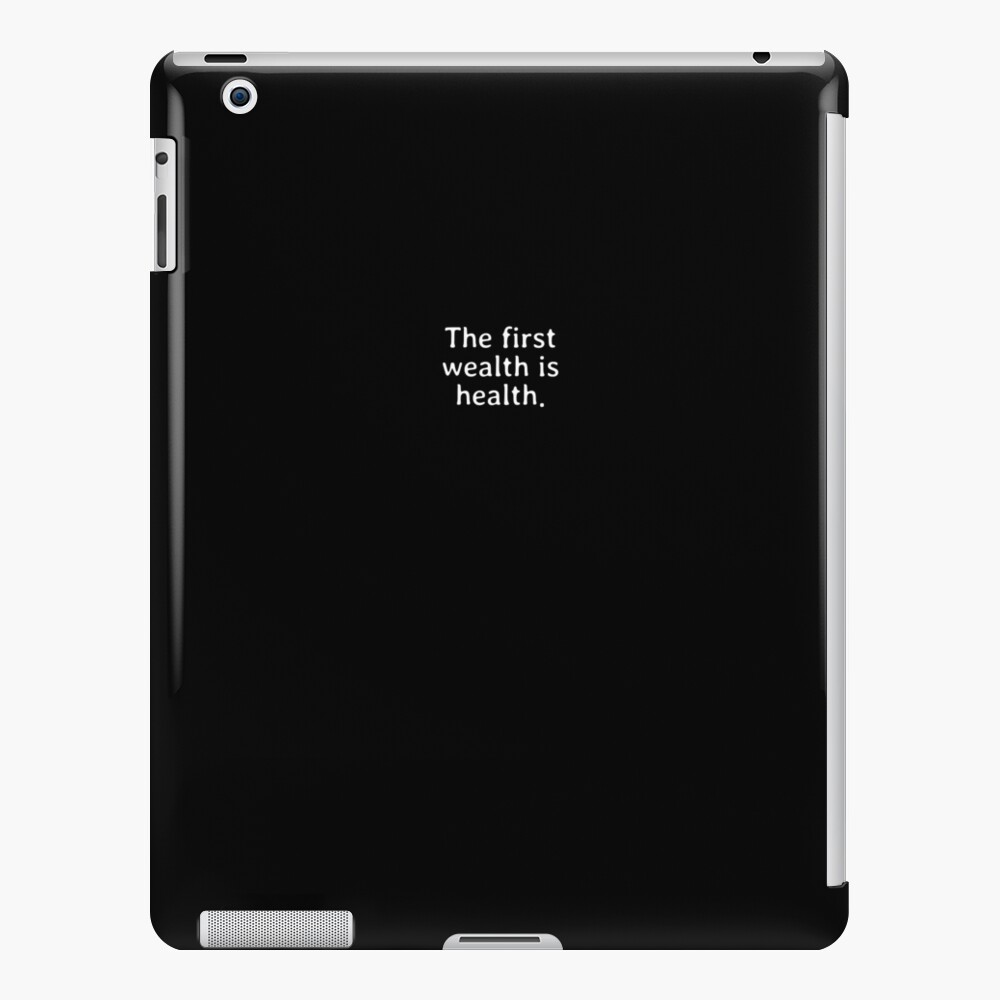 The first wealth is health Funda y vinilo para iPad
