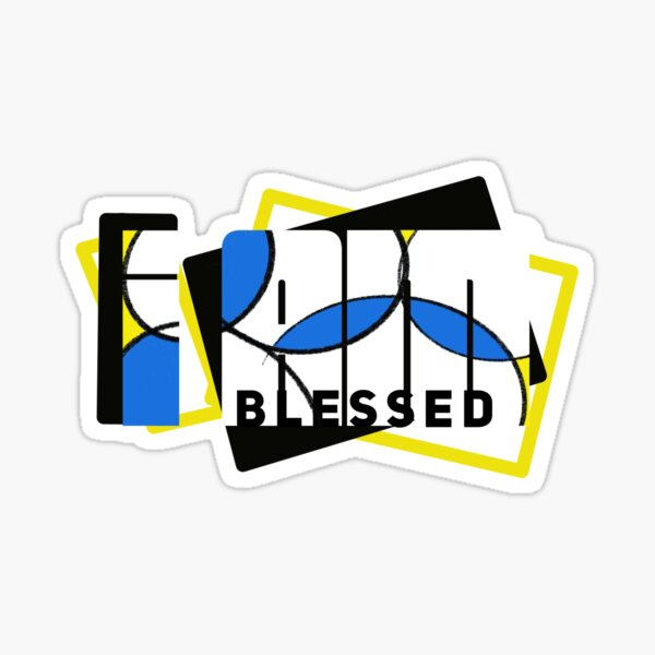 I Am Blessed Color Sticker