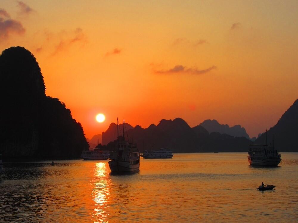 Ha long bay sunset  by Sshearn