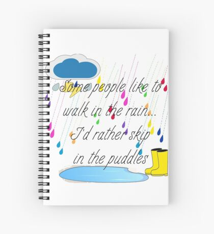 Skip in the Puddles Spiral Notebook
