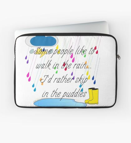 Skip in the Puddles Laptop Sleeve