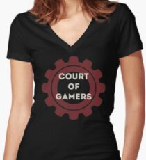 Court of Gamers - Dark Fitted V-Neck T-Shirt