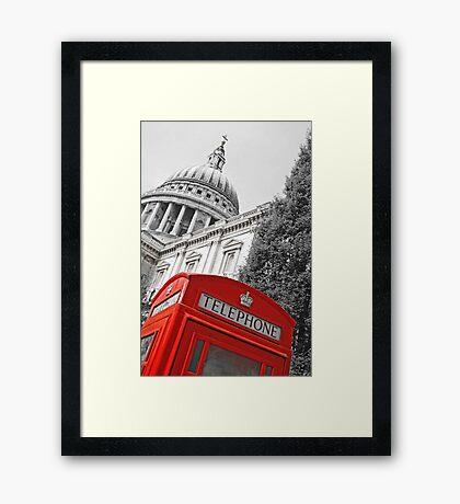 London phone box Framed Print