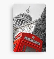London phone box Canvas Print