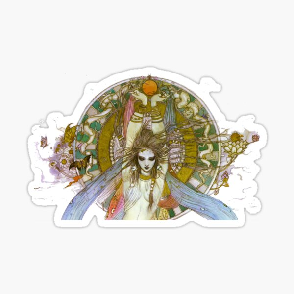 Yoshitaka Amano - The Goddess (Bust) Sticker