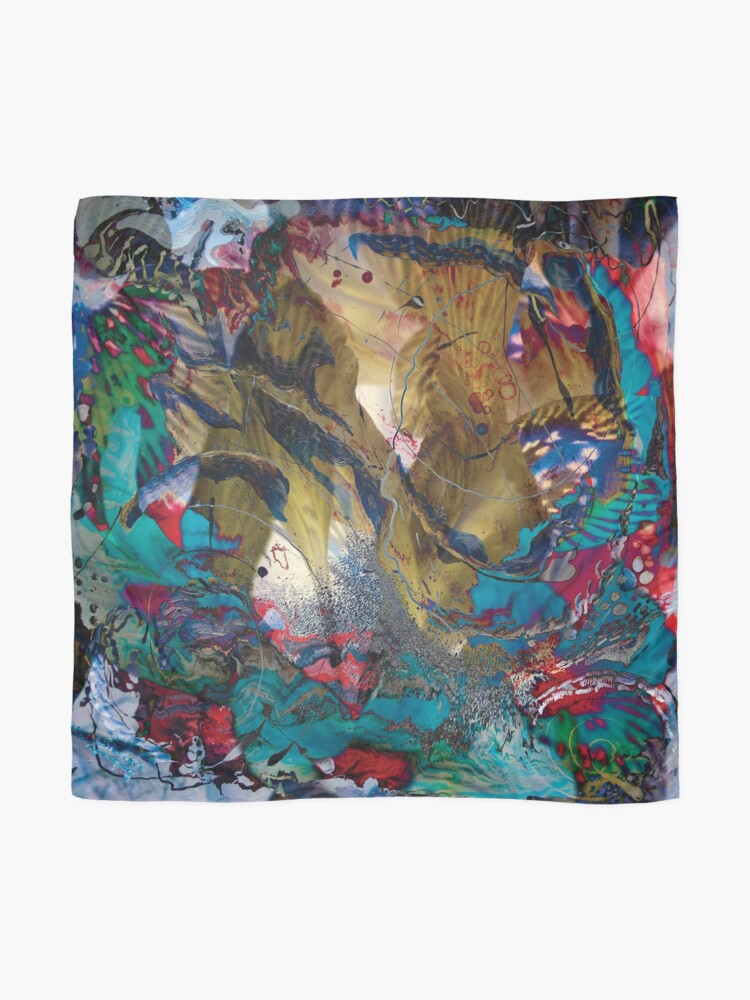Alternate view of fairy impression abstract art Scarf