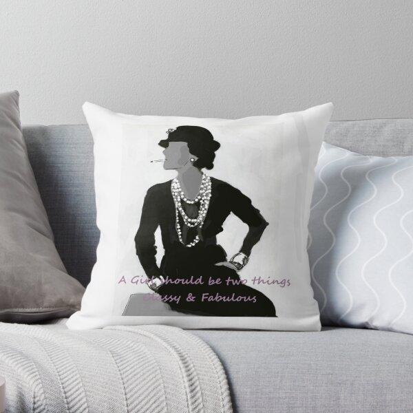 coco chanel Throw Pillow