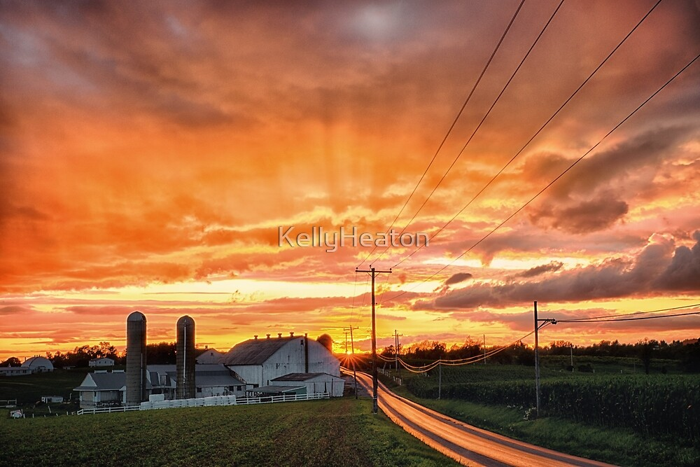 Orange Farm Sunset by KellyHeaton