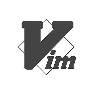 Minimalistic Vim Logo: Gray by hellkni9ht