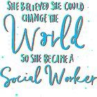 Proud Social Worker Woman Job Lover by IchGebWas