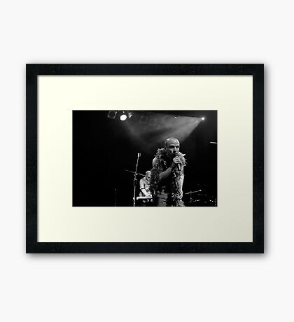 Exit, Pursued By A Bear Framed Print