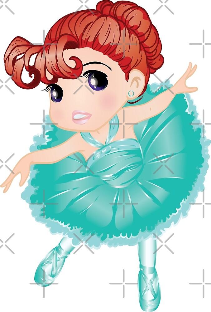 Cute Little Blue Vector Ballerina by Tian123