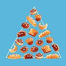 Brotpyramide in blau von Paigekotalik